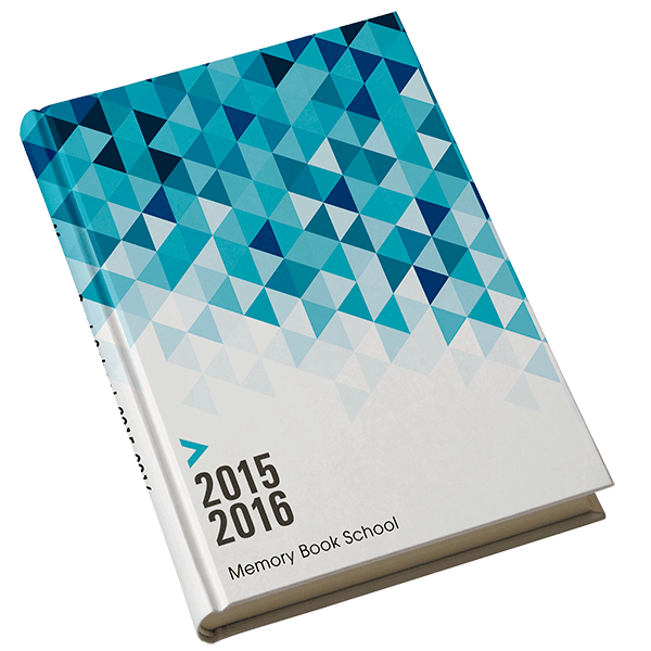 Prism - This blue gradient geometric yearbook cover will dazzle and ...