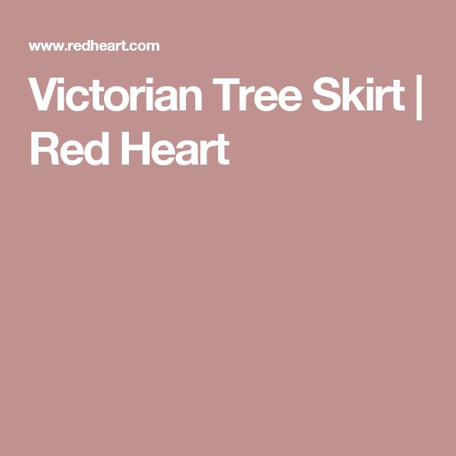 Victorian Tree Skirt | Red Heart | CHRISTMAS TREE SKIRTS | Pinterest