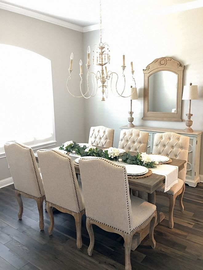 Charmant Sherwin Williams Repose Gray French Country Dining Room Paint Color Best  Neutral Paint Colors Sherwin Williams Repose Gray #SherwinWilliams  #ReposeGray