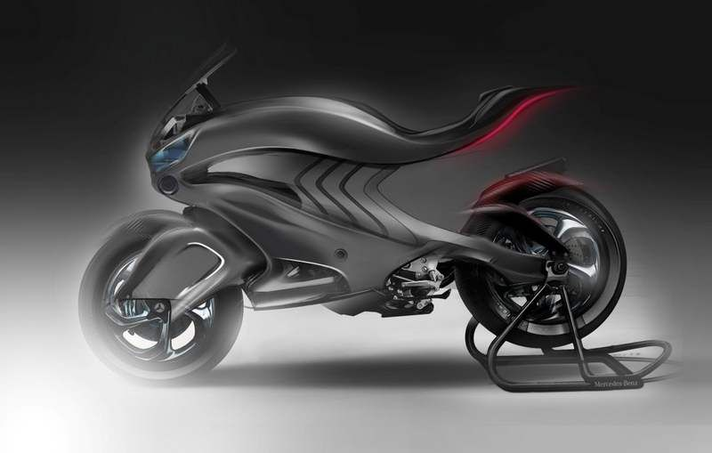 mercedes benz revenge 2030 conceptual motorbike. Black Bedroom Furniture Sets. Home Design Ideas