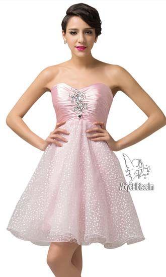 dfc5741275b11 kısa abiye işlemeli strapless saten,abiye elbise,abiye modelleri,siyah  elbise, beyaz