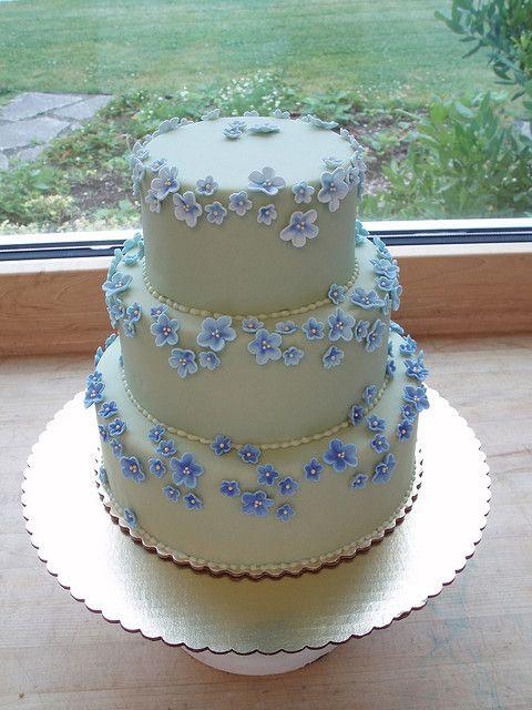 Forget Me Not Wedding Cake Wedding Cake Fondant Flowers Simple Wedding Cake Cool Wedding Cakes