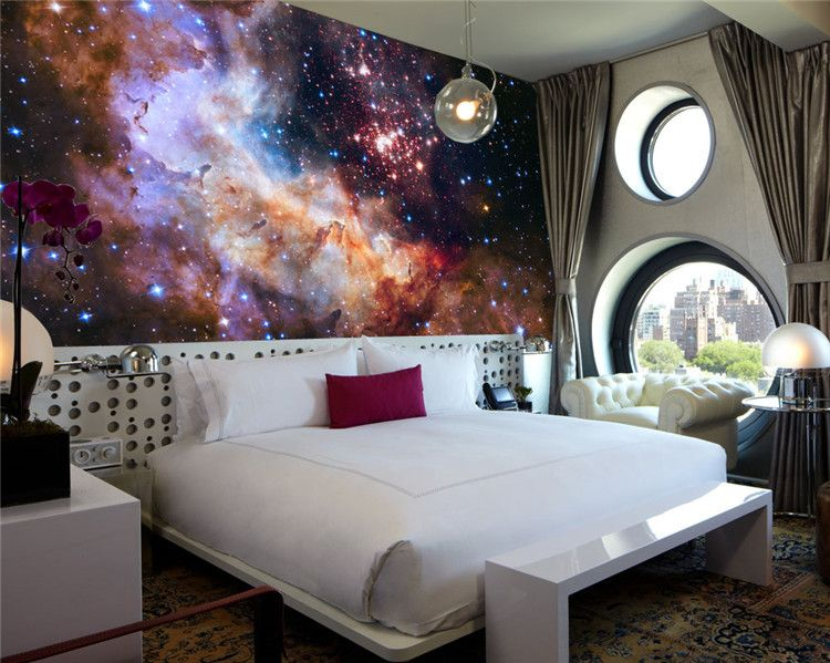 Best 3D Gorgeous Galaxy Photo Wallpaper Custom Silk Wallpaper 400 x 300
