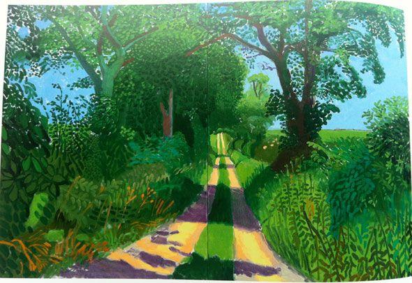 david hockney paintings   david hockney landscape tunnel2 Art ...