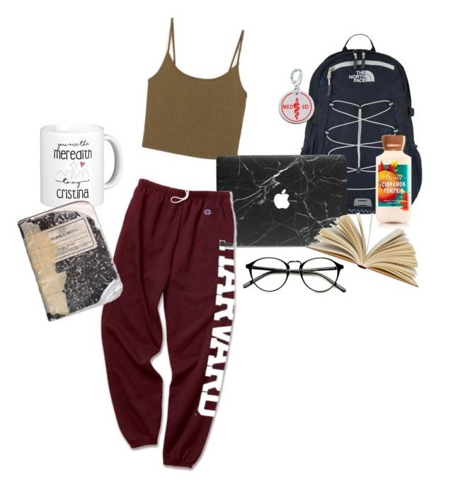 """""""Harvard Med Student"""" by sunshineilenia ❤ liked on Polyvore featuring The North Face, Plane and Zable"""