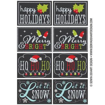 free printable chalkboard christmas tags holiday pinterest
