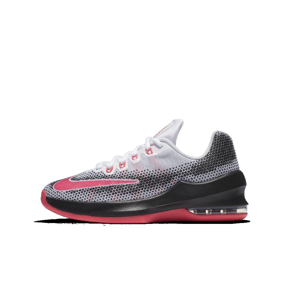 c71a9053ae6e Nike Air Max Infuriate Little Big Kids  Basketball Shoe Size 3.5Y (White)