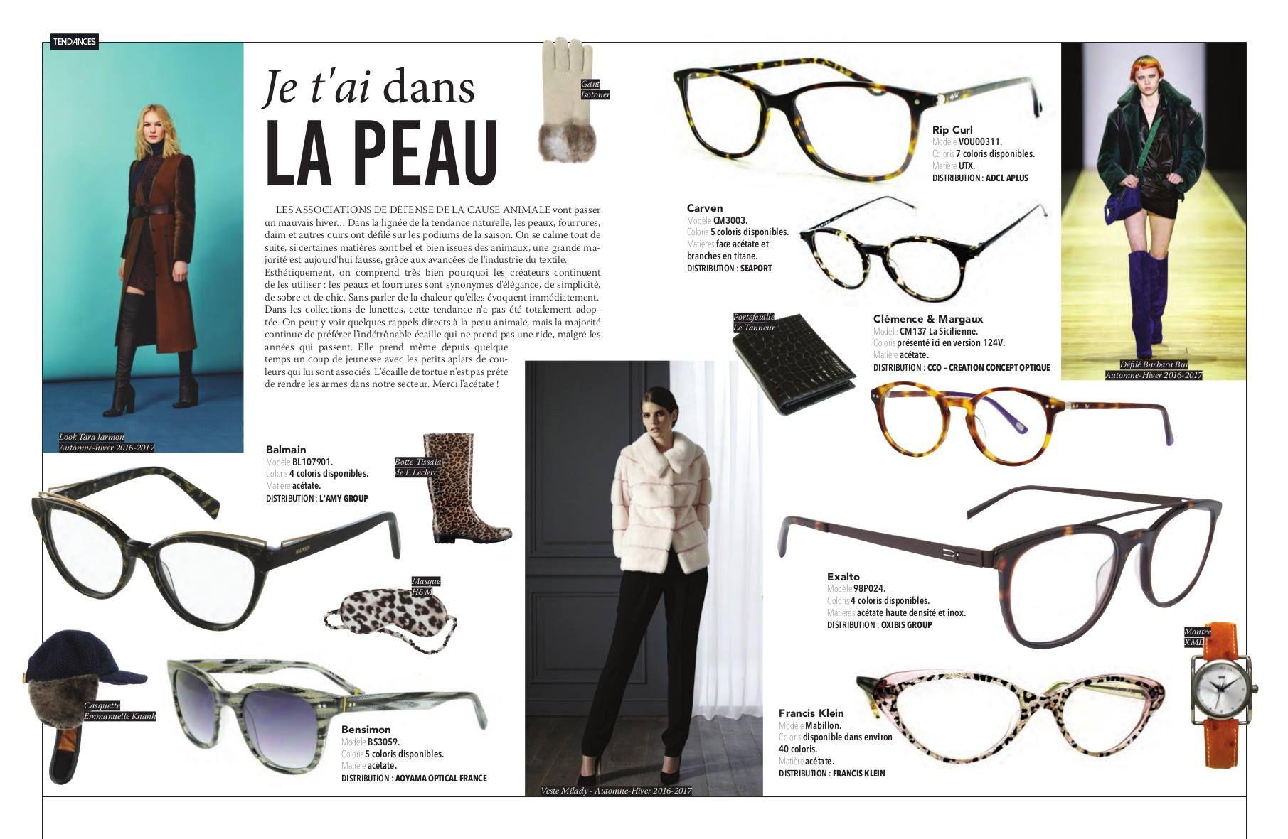 OL Mag Janvier 2017 Colelction Bensimon ColorLine sunglasses   Revue ... cb14144e4f94