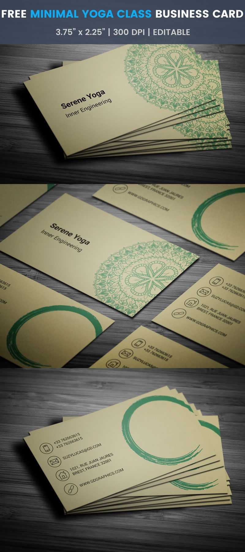 Free yoga class business card business cards business and card free yoga class business card template edit online download reheart Image collections