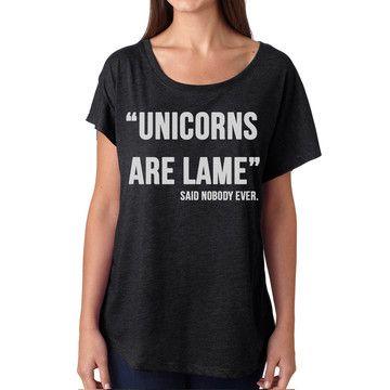 Graphic tee shirt LOVE! Unicorn Dolman Womens Black, $21, now featured on Fab.