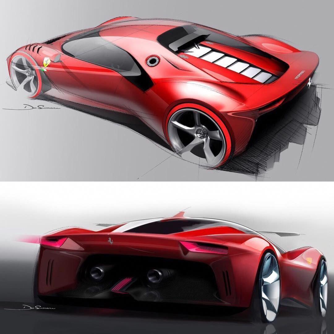 Car Design Sketch On Instagram 2019 Ferrari P80 C Official Sketches By Stefano De Simone Stefanodesign Senior De Car Design Car Design Sketch Concept Cars