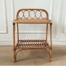 Tables D Occasion Vintage Design Scandinave Industriel Ancien Meuble Rotin Meuble Osier Petit Meuble