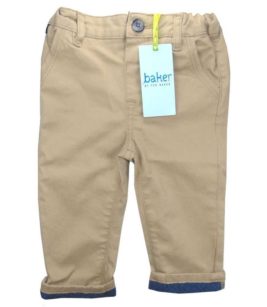 ea628426a Ted Baker Baby Boys Trousers Brown Chinos Designer 12-18 Months ...