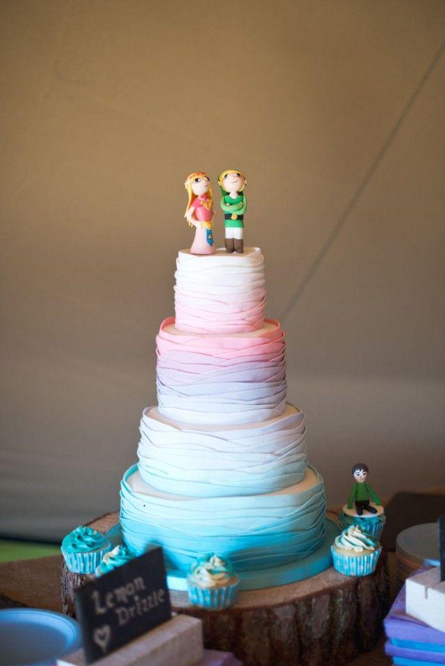 Zelda Video Game Wedding Cake Toppers Lighthouse