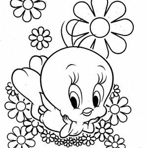 Tweety Bird Swing Coloring Page Easter Coloring Pages Printable Spring Coloring Pages Bird Coloring Pages