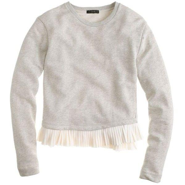 J.Crew Ruffle-Hem Sweatshirt ($53) ❤ liked on Polyvore
