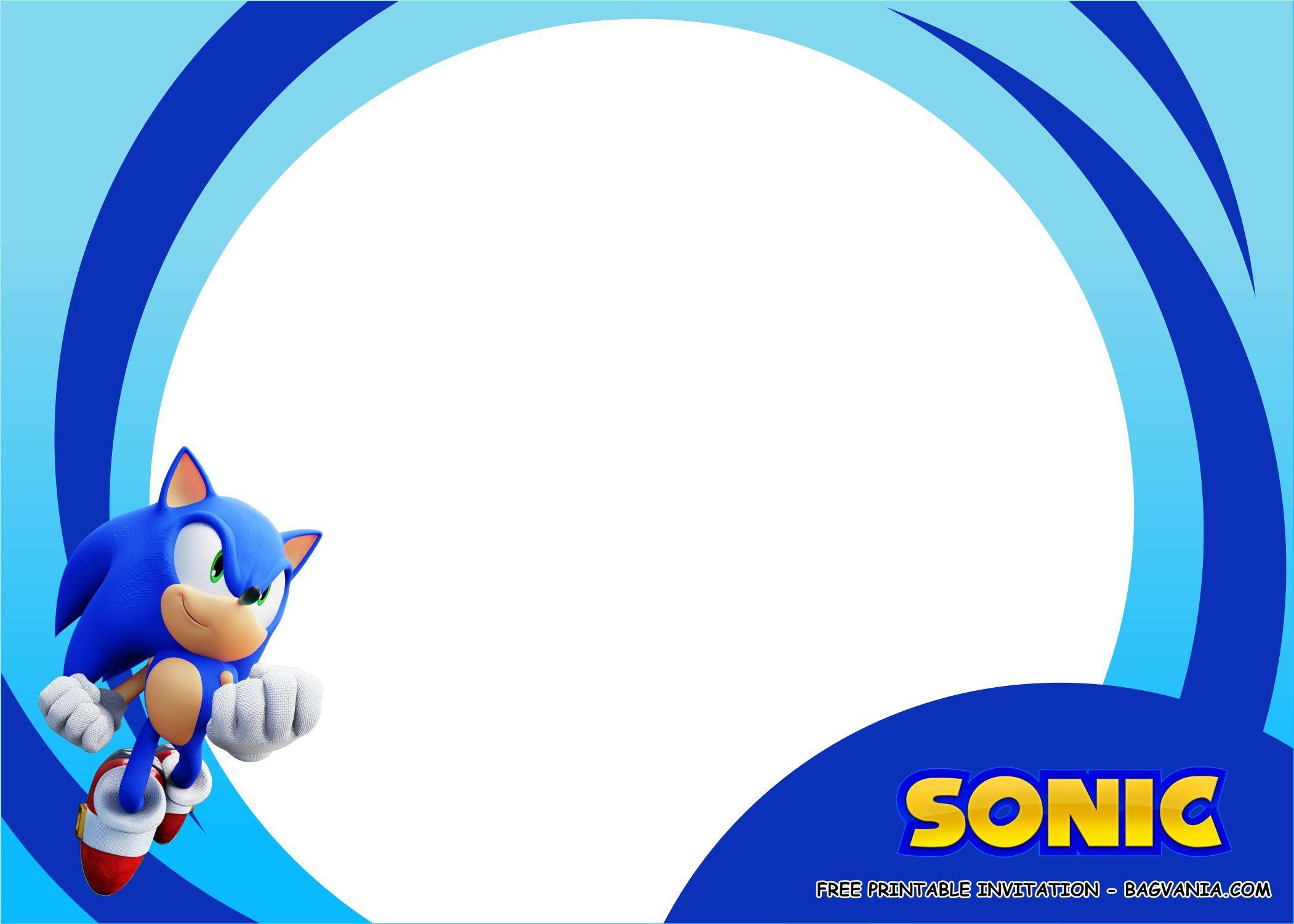 Free Printable Sonic The Hedgehog Birthday Party Kits Template Hedgehog Birthday Sonic Birthday Parties Birthday Party Kits
