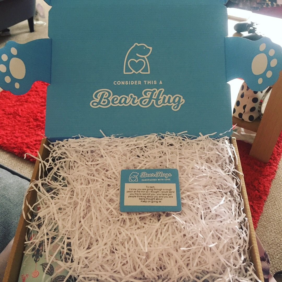 I received a bear hugs gift box hug gifts bear hug