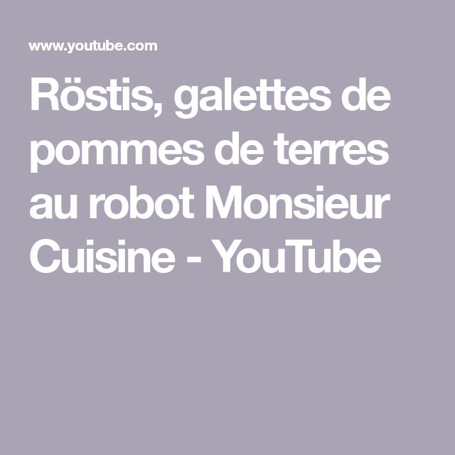Röstis, galettes de pommes de terres au robot Monsieur Cuisine