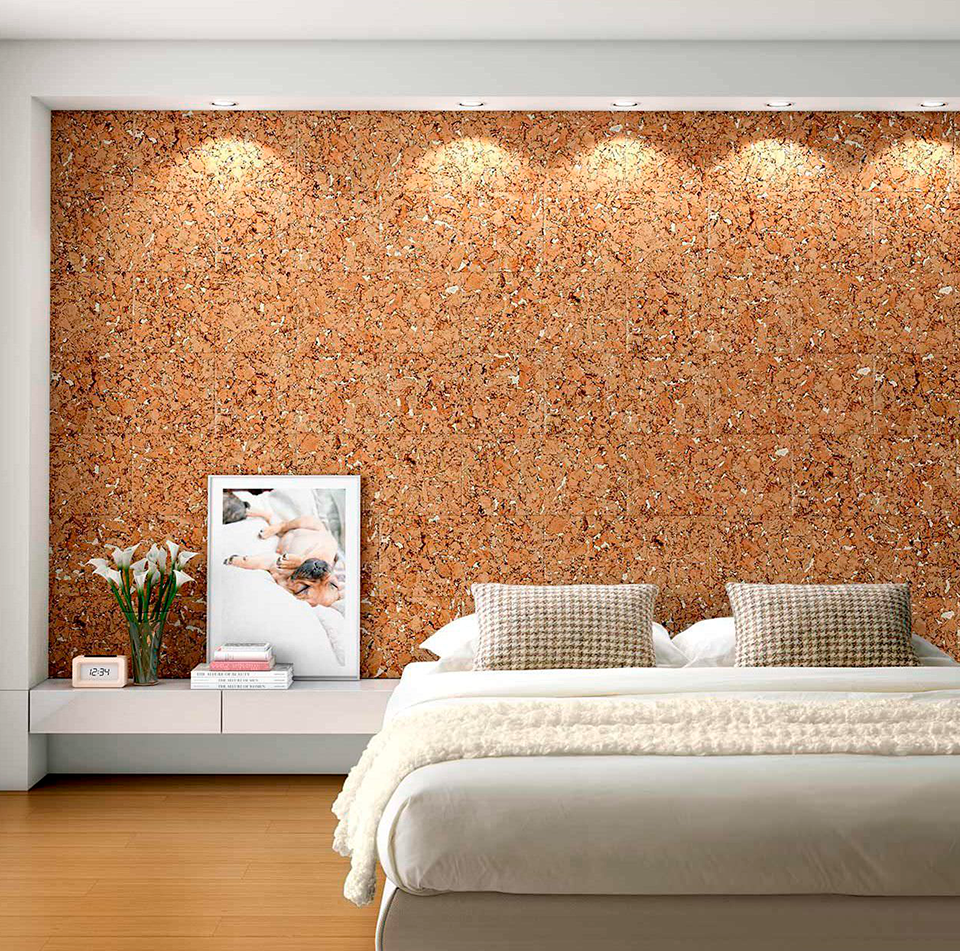 El corcho aporta calidez y textura a los espacios - Revestimiento de corcho ...