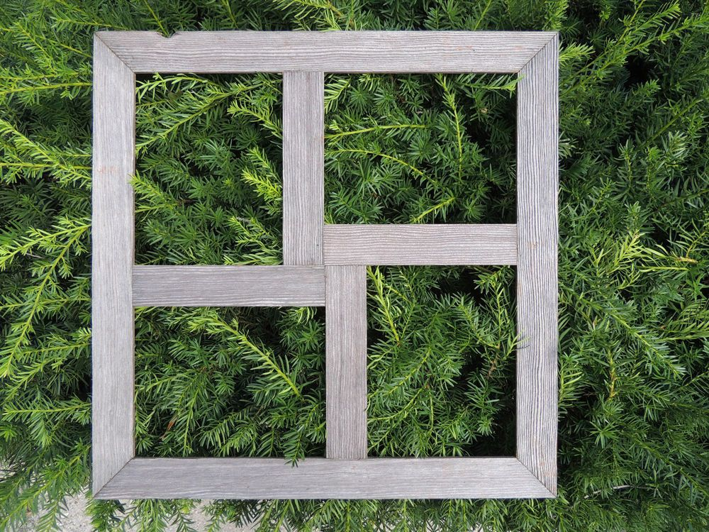 Quad 8x10 Rustic Weathered Reclaimed Barn Wood Collage Picture Frame
