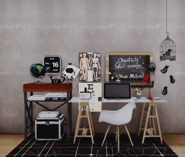 Sims 4 CC's The Best Updated Coral Office + New