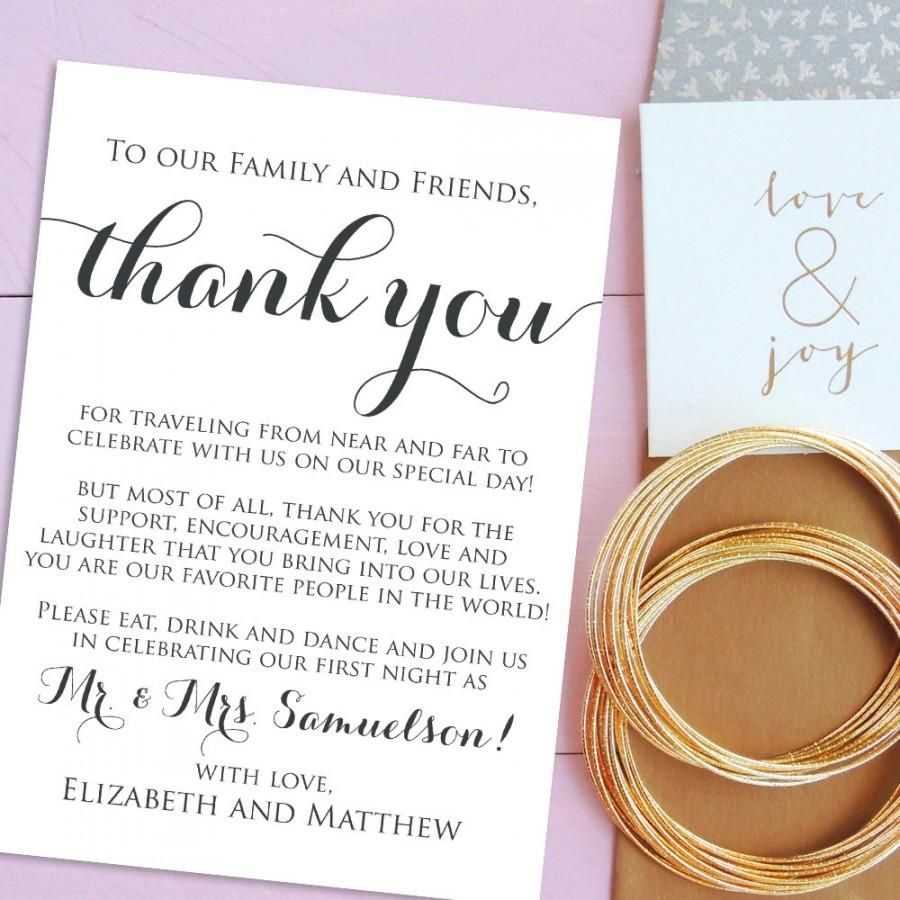 Simple Thank You Cards For Wedding 2017 Wedding Thank You Cards Thank You Card Template Thank You Card Sample
