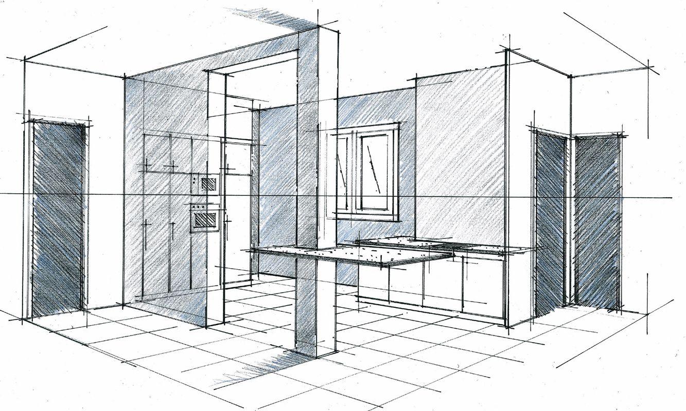 Perspective d\'une cuisine ouverte Philippe Ponceblanc architecte d ...
