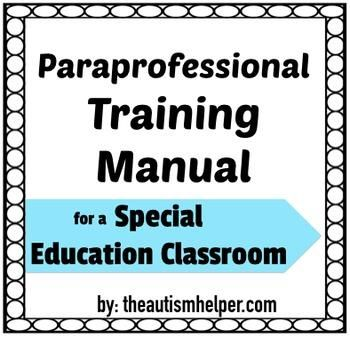 Paraprofessional Training Manual Special Education Paraprofessional Special Education Paraprofessional