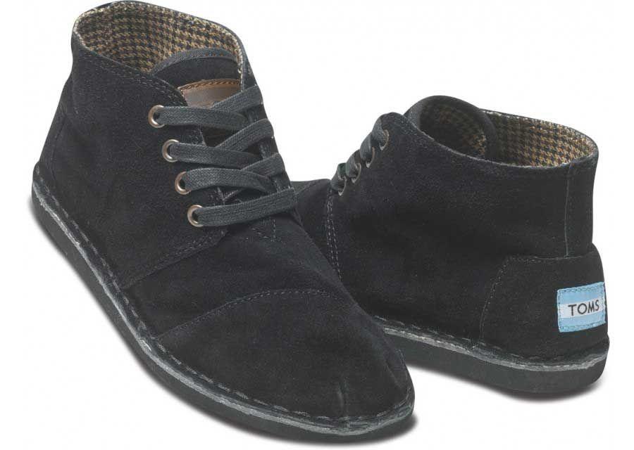 1552bab4c68 Classic Toms Black Suede Women s Desert Boots Sale