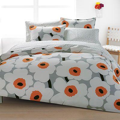 Marimekko Unikko Orange Duvet Set From Beddingstyle Com