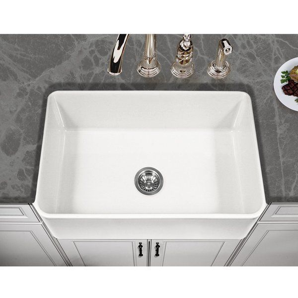 Platus 30 X 20 A Front Fire Clay Single Kitchen Sink Sinks And Contemporary Design