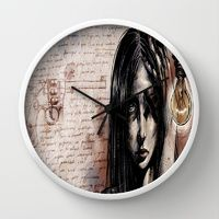 Wall Clock featuring Cluster Migraine by Arte Cluster - 20% OFF all wall clocks ! Thanks for your support, Arte Cluster *Awareness through Art*