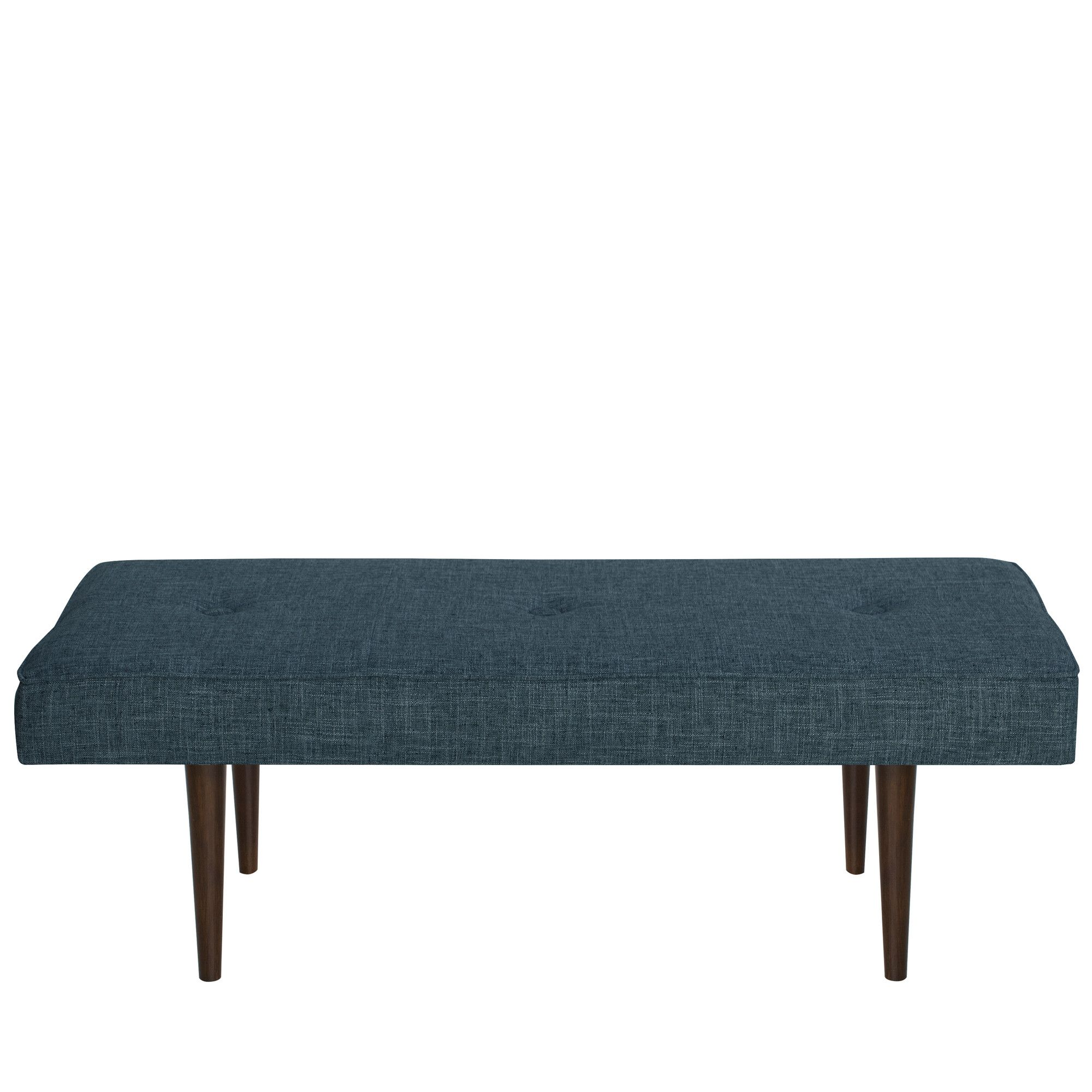Fairhill tufted woven linen upholstered bedroom bench linens and
