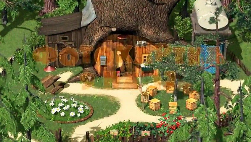 masha and the bear 2015 nice view bear house dp. Black Bedroom Furniture Sets. Home Design Ideas