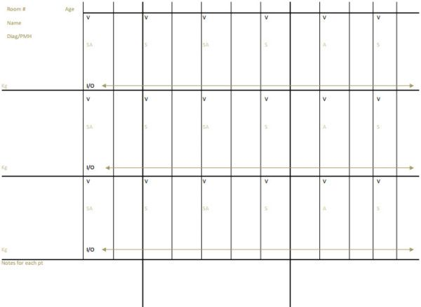 Nurse Brain Sheets - Three Patient Nursing School Pinterest