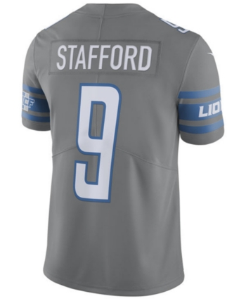 Nike Men s Matthew Stafford Detroit Lions Limited Color Rush Jersey - Gray  3XL 4720f0445