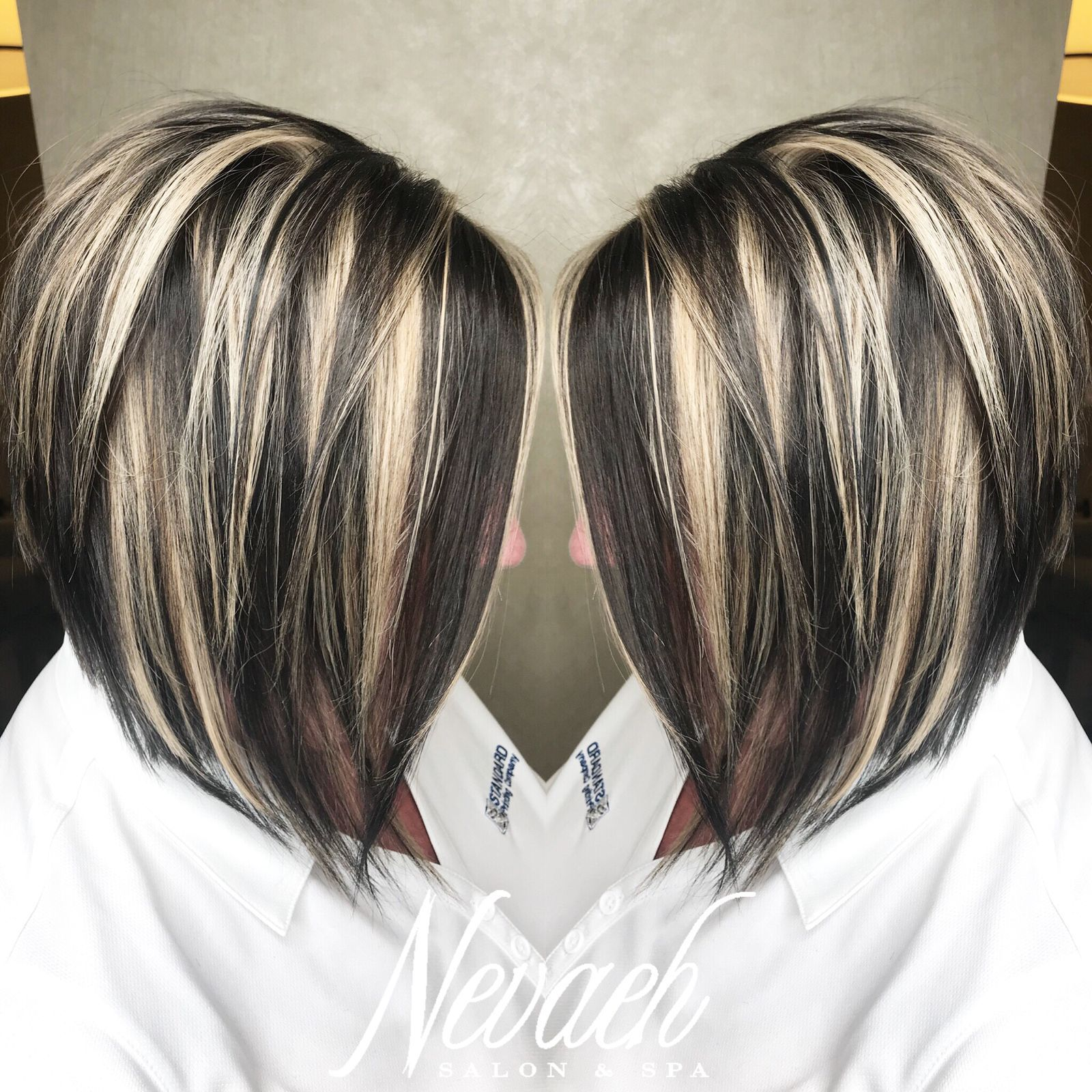 Super Fun Chunky Highlight Lowlight By Lindsey Nevaehsalonspa Brown Hair With Blonde Highlights Blonde Highlights On Dark Hair Dark Hair With Highlights
