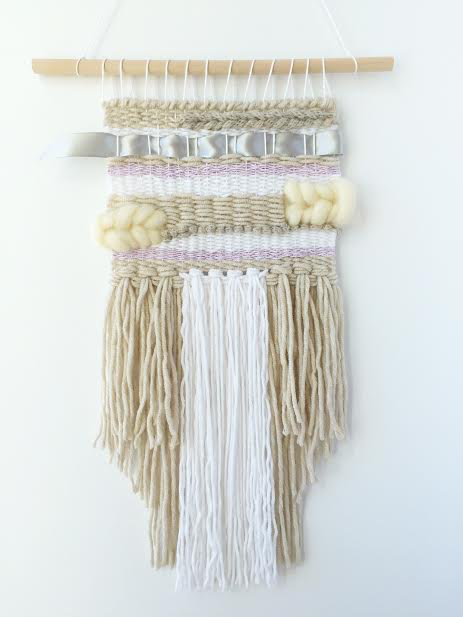 Cream & Purple Wall Hanging