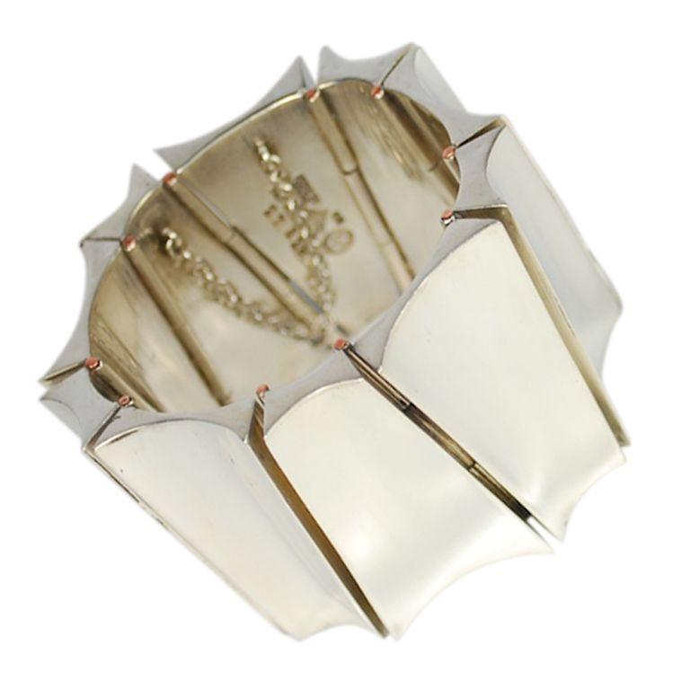 1STDIBS.COM Jewelry & Watches - Antonio Pineda - ANTONIO PINEDA Monumental Modernist Silver Bracelet - Maestros de Taxco
