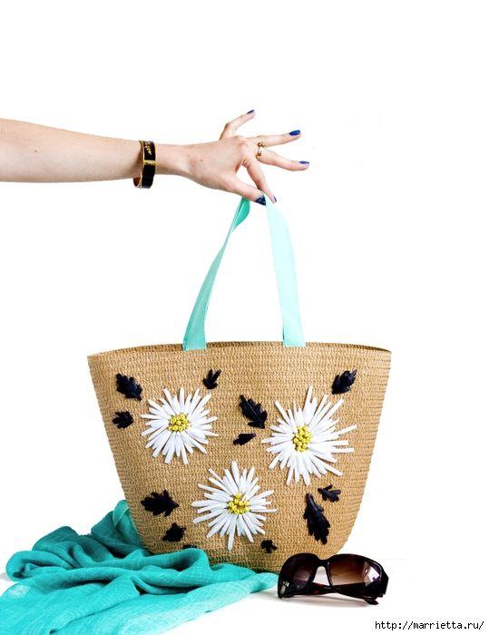 Вышивка на соломенной пляжной сумке (1) (539x700, 169Kb)   сумка ... 8270edddf65