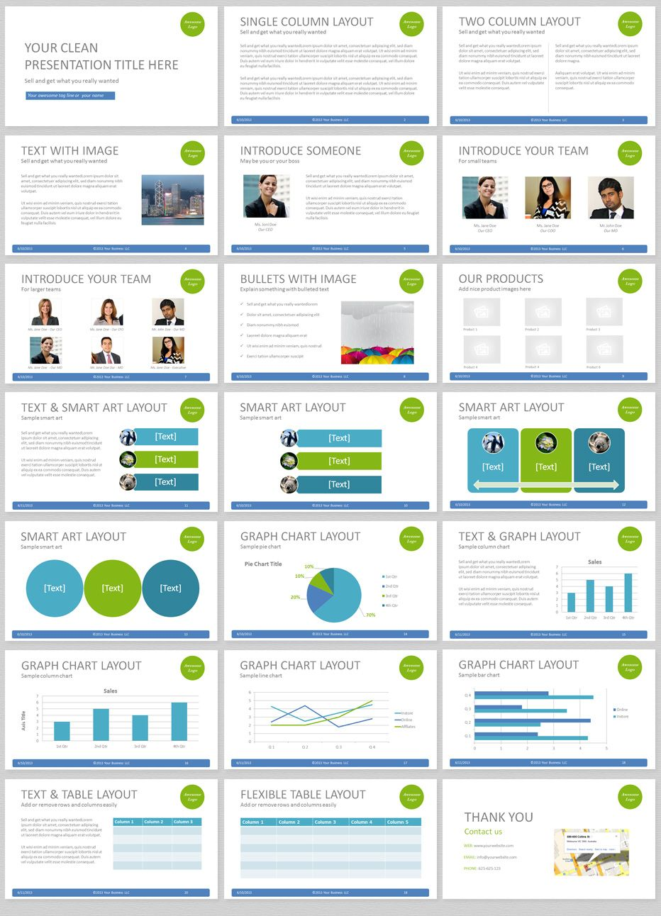 Simple Powerpoint Template With Clean And Elegant Easy To Edit