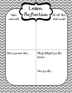 Lesson Reflection/ Andrea Shelby? Throw a couple of these