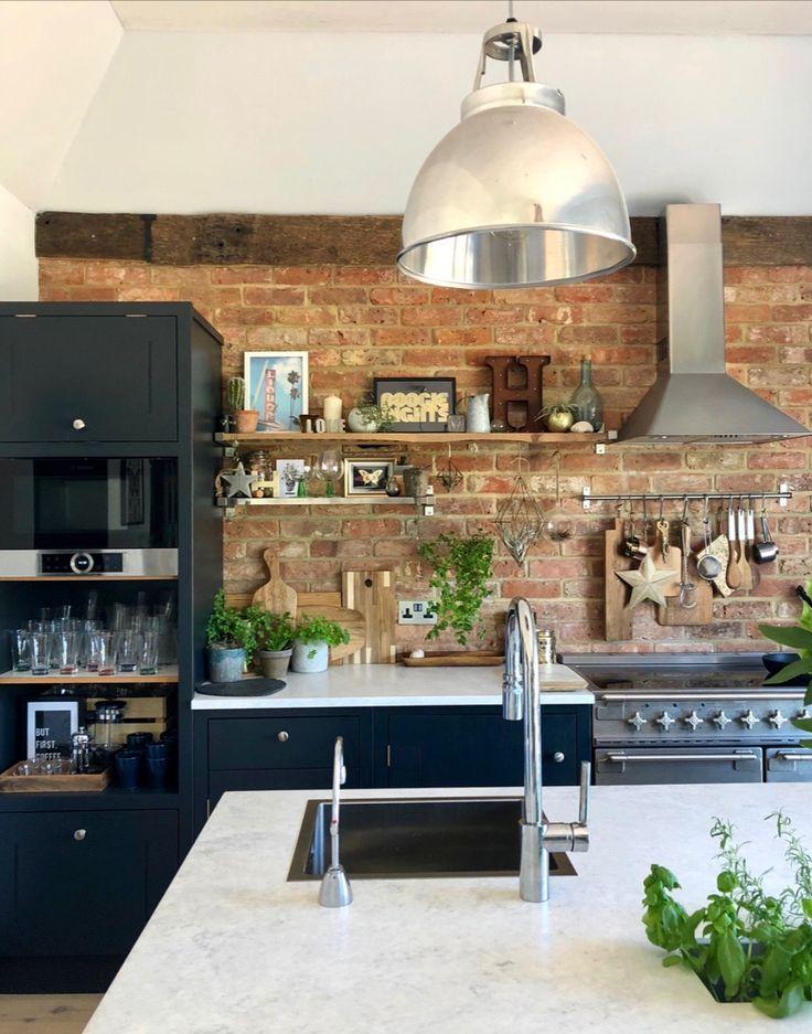Modern Rustic Kitchen Industrial Kitchen Blue Kitc Blue