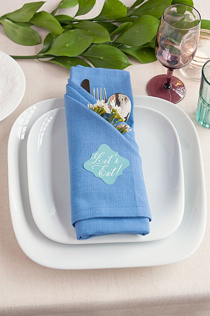 Table Setting Tips 3 Basic Napkin Folds & Table Setting Tips: 3 Basic Napkin Folds | Table settings Napkins ...