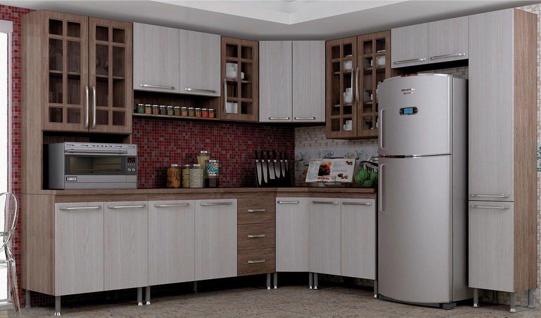Cozinha Completa 9 Pecas Louise Siena Moveis Com Imagens