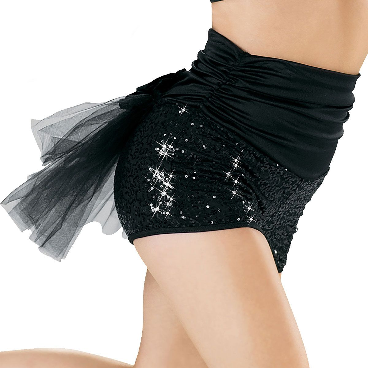 High Waisted Bustle Sequin Shorts - Balera | WW Costume Ideas ...