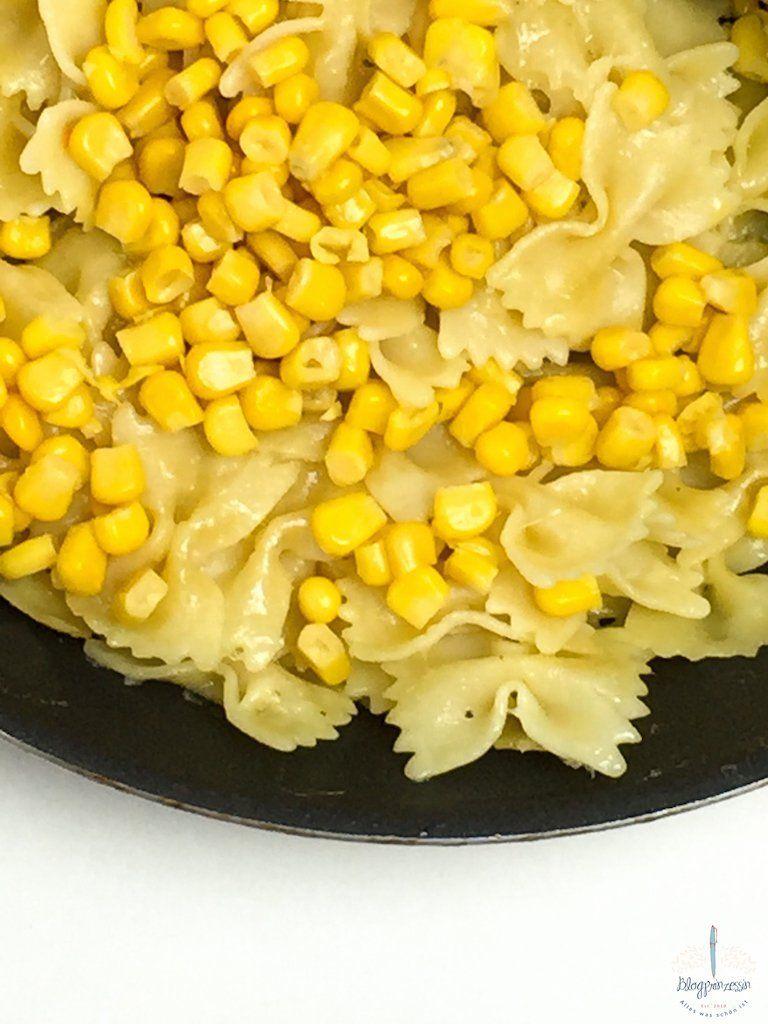 Schnelles Rezept für Käsenudeln mit Mais