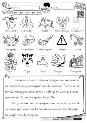 Lectura trabadas Gr | sonidos compuestos | Pinterest | Lengua ...