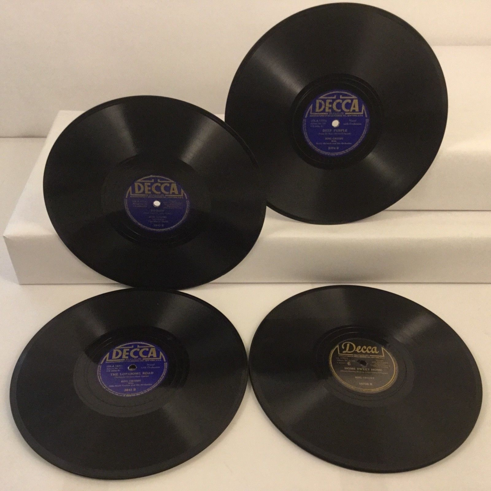 Bing Crosby 78 Rpm 10 Decca Record Collection Of 8 Shellac Records Bing Crosby Records 78 Rpm